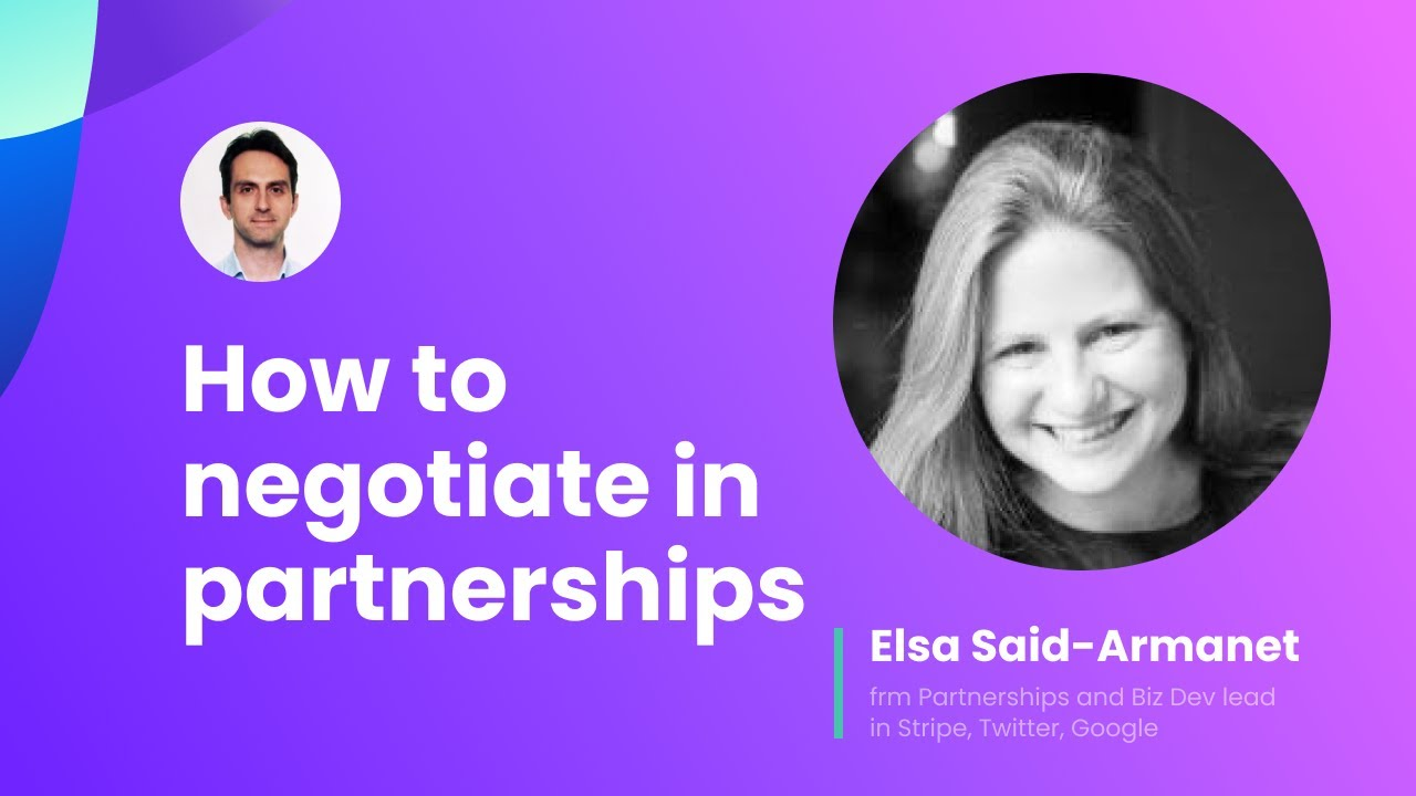 How to negotiate in Partnerships