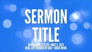 Sermon Title