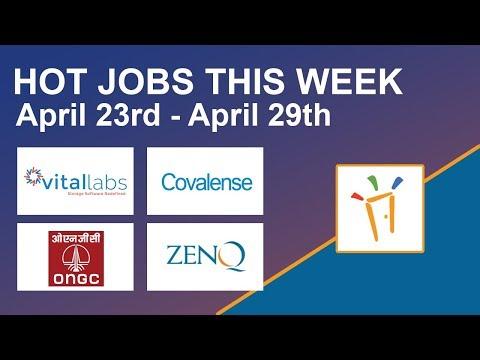 Freshersworld Hot Jobs Of The Week-(Apr 23rd–Apr 29th) – Vital Labs,ONGC,ZenQ,Covalense Technologies