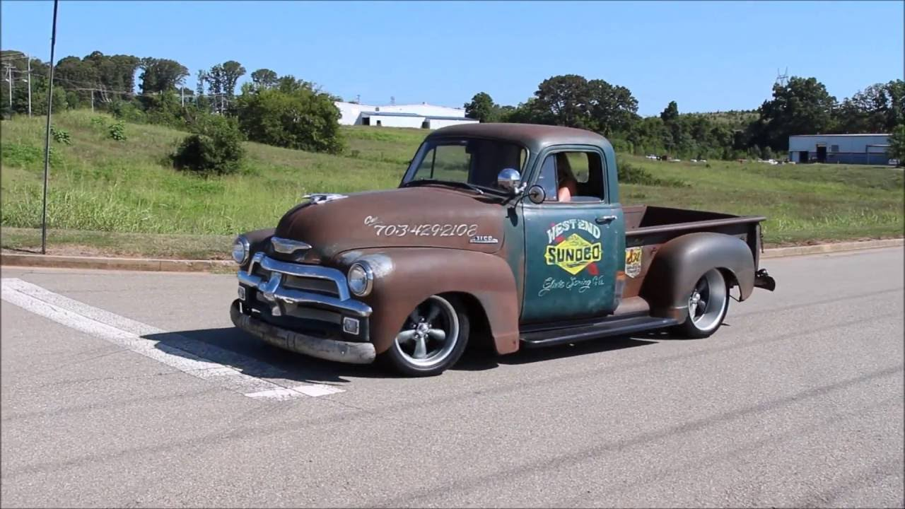 All Chevy 1954 chevy : 1954 Chevy 3100 Rat Rod - YouTube