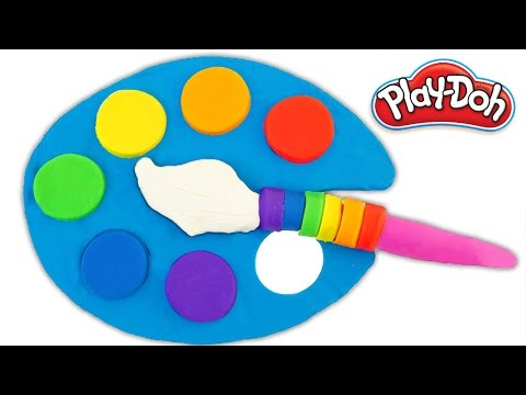 Learn Rainbow Colors with Play Doh Modelling Clay children toddlers Nursery Rhymes Learning video