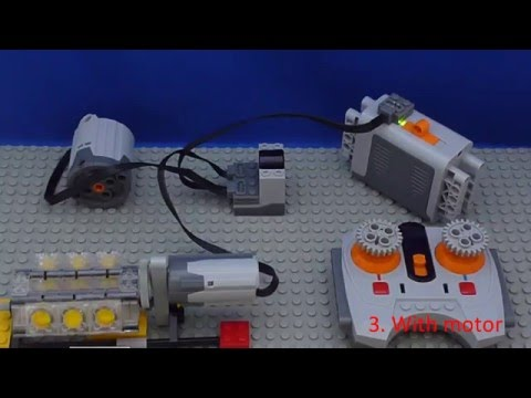 Tutorial: Lego Power Functions - Connect - Motor and Wheel