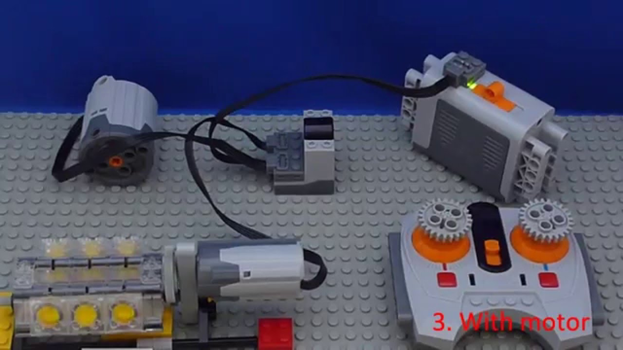 Tutorial: Lego Power Functions - Connect - Motor and Wheel - YouTube