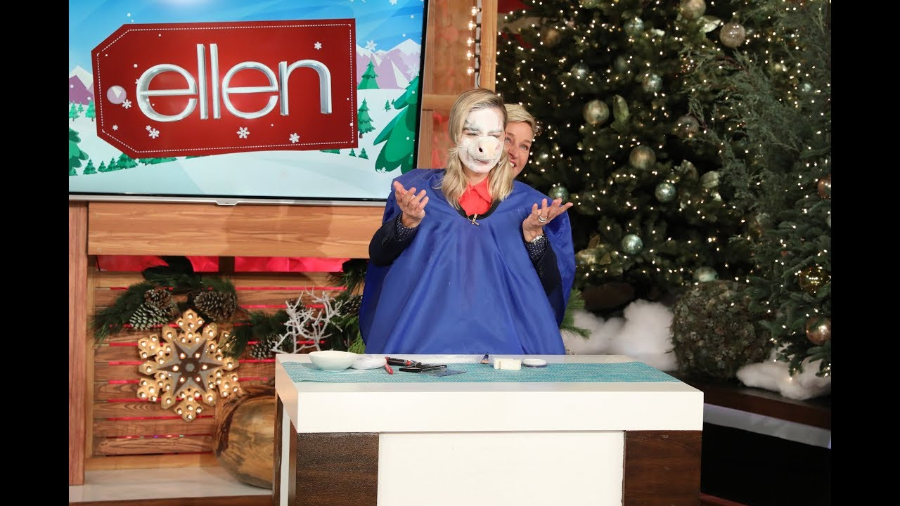 Margot Robbie Lets Ellen Take Control of Her Makeup