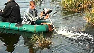 лодочный двигатель с косилки