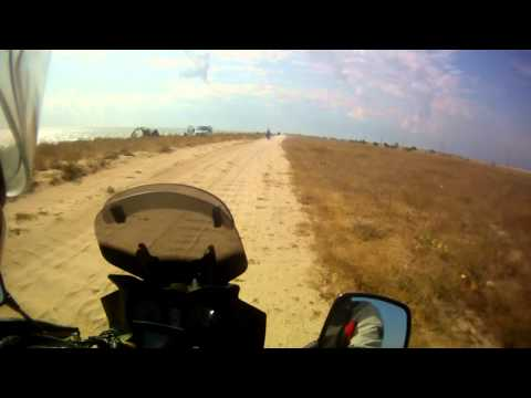 Suzuki DL 650 V-Strom off-road ride on Arabat spit, part 2
