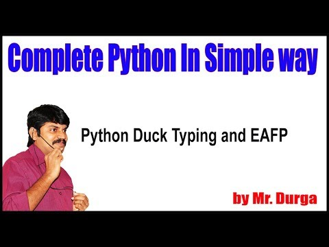 python-tutorials-||-python-duck-typing-and-eafp-||-by-durga-sir