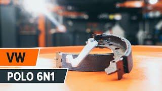 Instalação Jogo de maxilas de travão dianteiro e traseiro VW POLO: vídeo manual