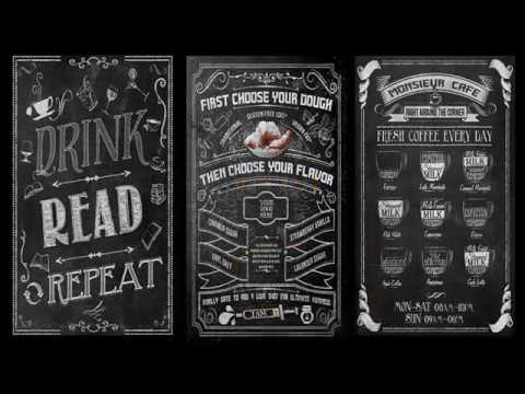 how to design chalkboard menu in photoshop 20 editable templates