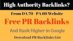 Free High Authority Backlinks from DA 70- PA-60 Website | Backlink List Download
