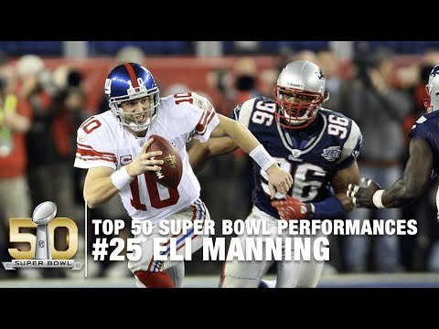 #25: Eli Manning Super Bowl XLII Highlights | Top 50 Super Bowl Performances