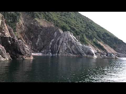 White Rock Gulch while Whale Watching in Cape Breton, Nova Sotia