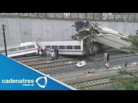 ¡Ultima hora! impresionantes imágenes del accidente de tren en España