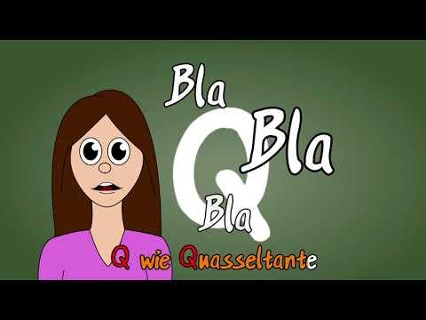 Kinderlieder zum Mitsingen - Das Q-Lied deutsch - Deutsches ABC mit Text