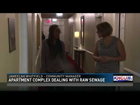 Apartment complex dealing with raw sewage