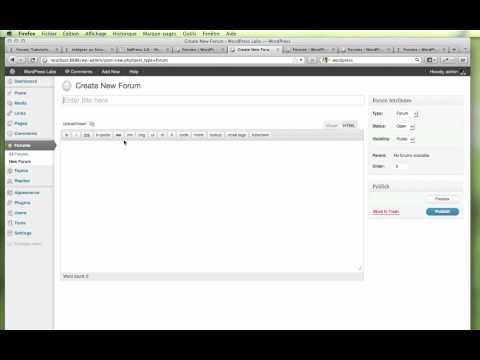Intégrer un forum bbPress 2.0 sur votre blog WordPress