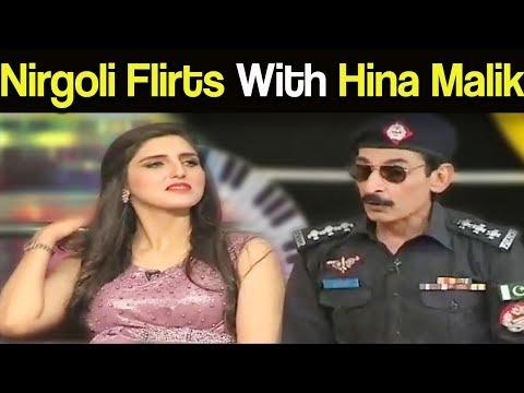 Nirgoli Flirt With Hina Malik - Mazaaq Raat