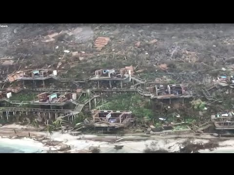 Aerial Video Shows Destruction in Virgin Islands