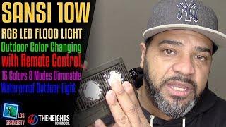 Sansi 10W RGB LED Landscape Lights with Remote Control💡 : LGTV Review