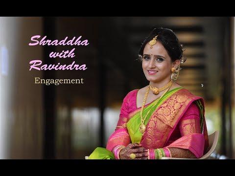 Shraddha Ghule with Ravindra Khatale Engagement Ceremony Highlites 2017