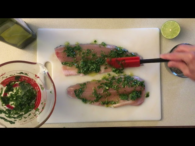 Grilled Rainbow Trout with Apricot Salsa
