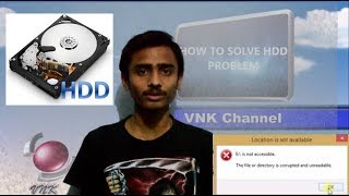 How to solve external HDD problem without any software || (The file is currupt)