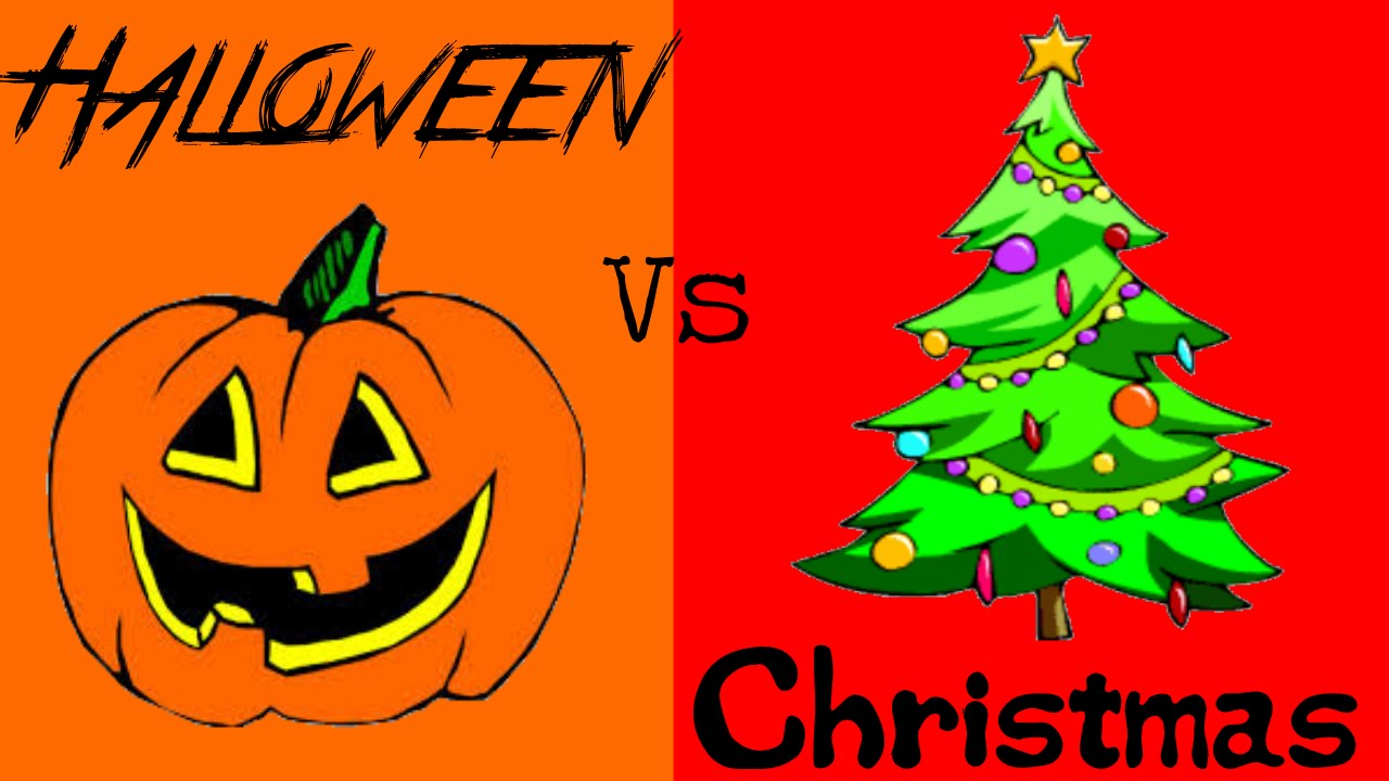 Halloween And Christmas.Halloween Vs Christmas