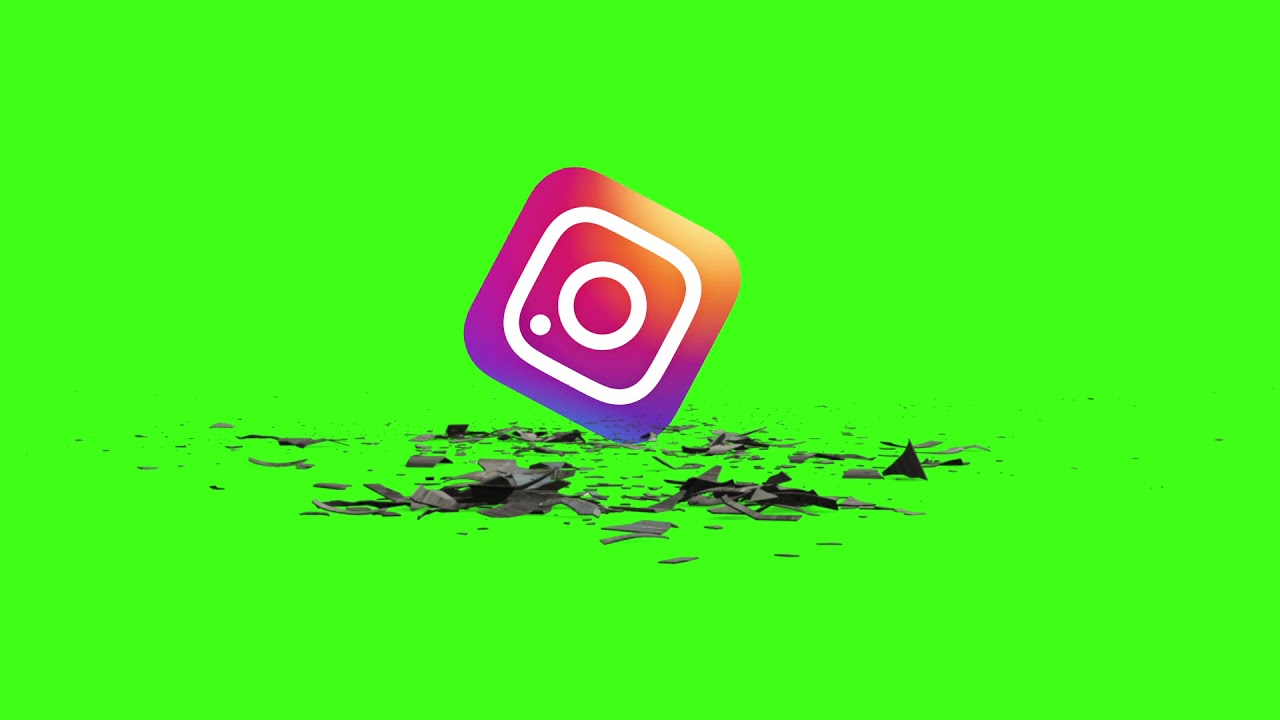Logo twitter and Instagram and Face book Effects HD free green Screen