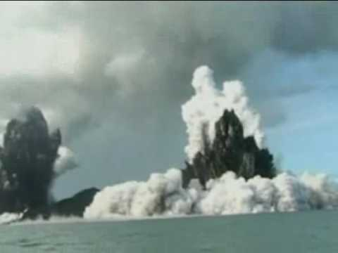 Underwater volcano erupts off Tongan coast