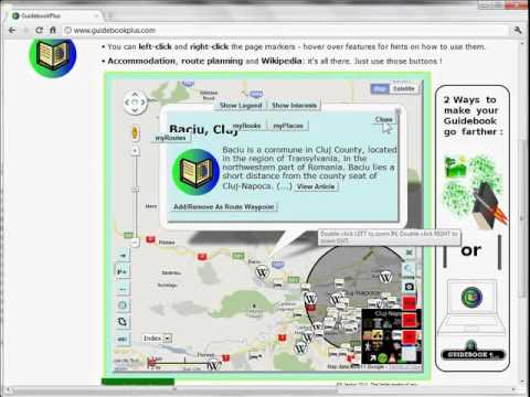 GuidebookPlus Extra: Accommodation, Wikipedia, Panoramio