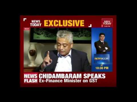 News Today:  Ex- Finance Minister P Chidambaram Speaks On GST Bill