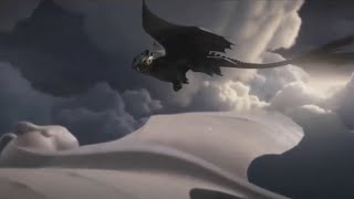 Toothless Flying With The Light Fury Scene (HD) HTTYD 3