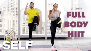 In this high intensity cardio bodyweight workout from trainer lita lewis, you'll spike your heart rate with high-knees, fast feet, and star jumps; plus work ...