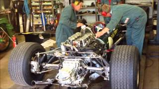 Preparing the 1967 Lotus 49 R3