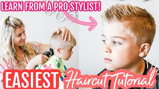 How To Cut Boy's Hair With Clippers For Beginners | How To Cut Hair At Home