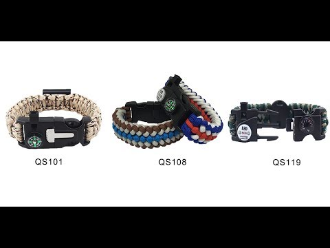 Qusoul outdoor survival paracord bracelet