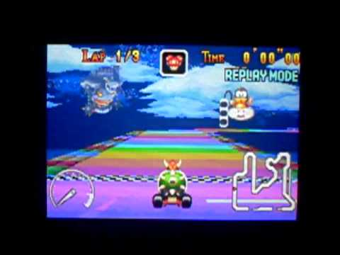 "Mario Kart Super Circuit - Rainbow Road - 34""53* - WR"