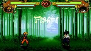 Naruto MUGEN AI: Naruto vs Sasuke