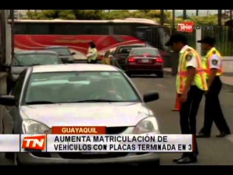 Aumenta matriculación de vehículos con placas terminada en 3