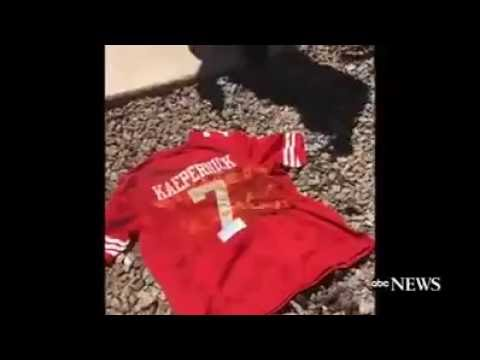 sports shoes db8c3 ad356 Colin Kaepernick Jersey Burned by Fans