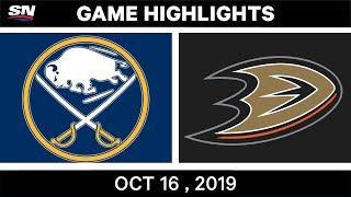 NHL Highlights | Sabres vs Ducks – Oct 16 2019