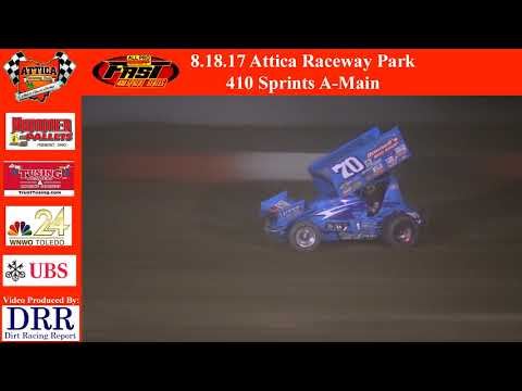 8.18.17 Attica Raceway Park 410 Sprints A-Main