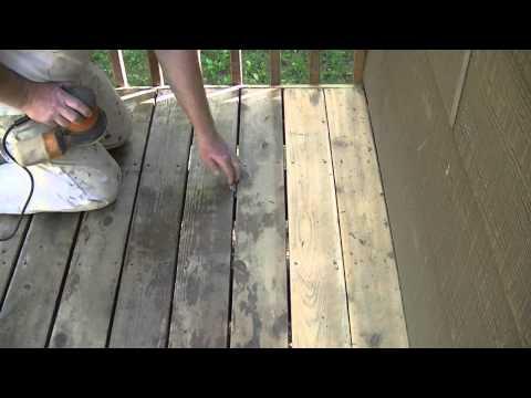 """How To Sand A Cedar Deck With A 5.5"""" Orbital Sander"""