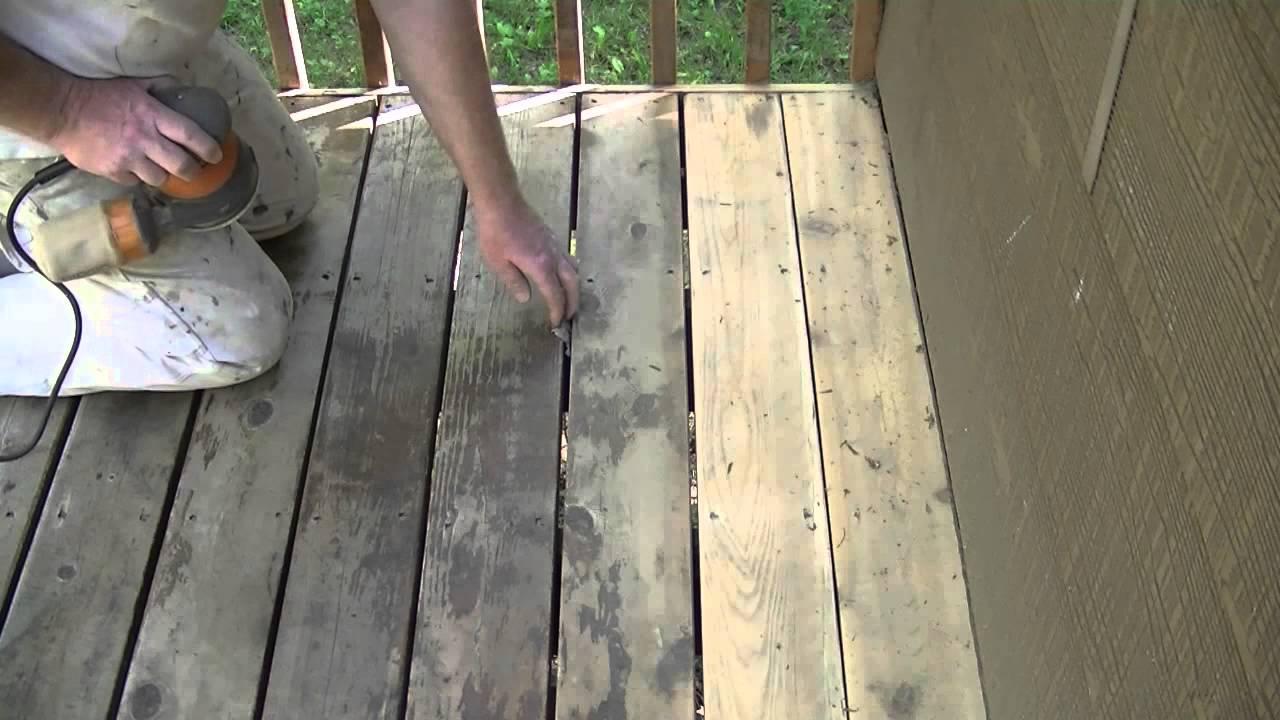 """How To Sand A Cedar Deck With A 5.5"""" Orbital Sander - YouTube"""