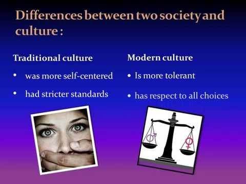 Traditional and modern society
