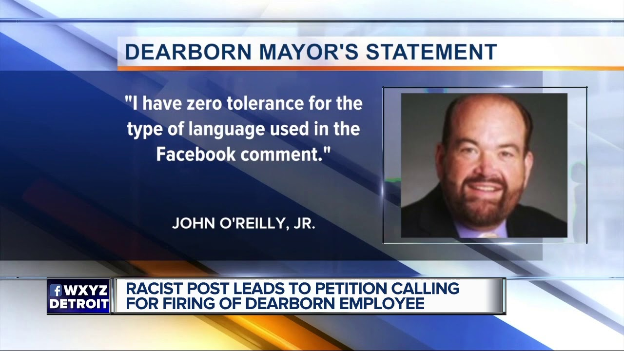Racist Facebook post from city employee's profile sparks outrage in Dearborn