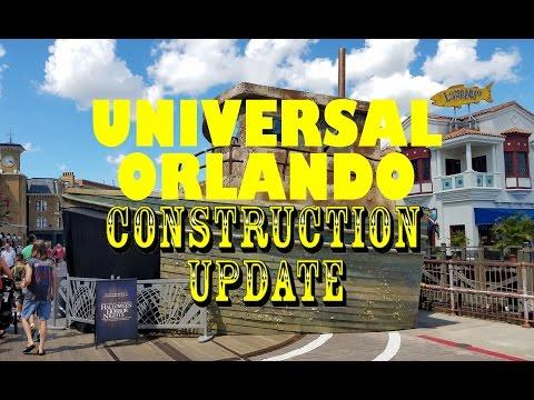 Universal Orlando Resort Construction Update 8.22.16 Horror All Over, Fallon & Fast & Furious