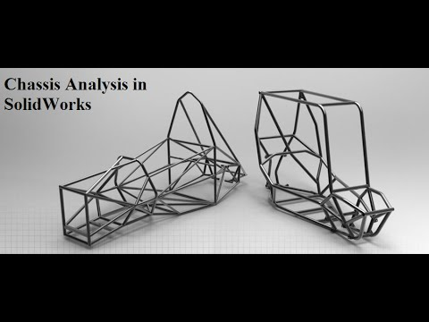 Chassis Analysis with Calculations in Solidworks - Supra, Baja, Effiicycle and Go kart