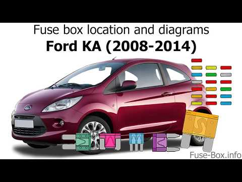 [SCHEMATICS_48EU]  Fuse box location and diagrams: Ford KA (2008-2014) - YouTube   Ka Car Fuse Box      YouTube