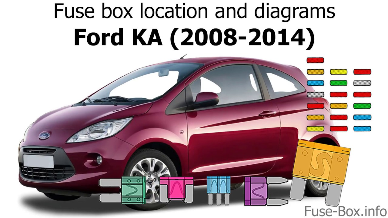 Fuse box location and diagrams: Ford KA (2008-2014) - YouTube